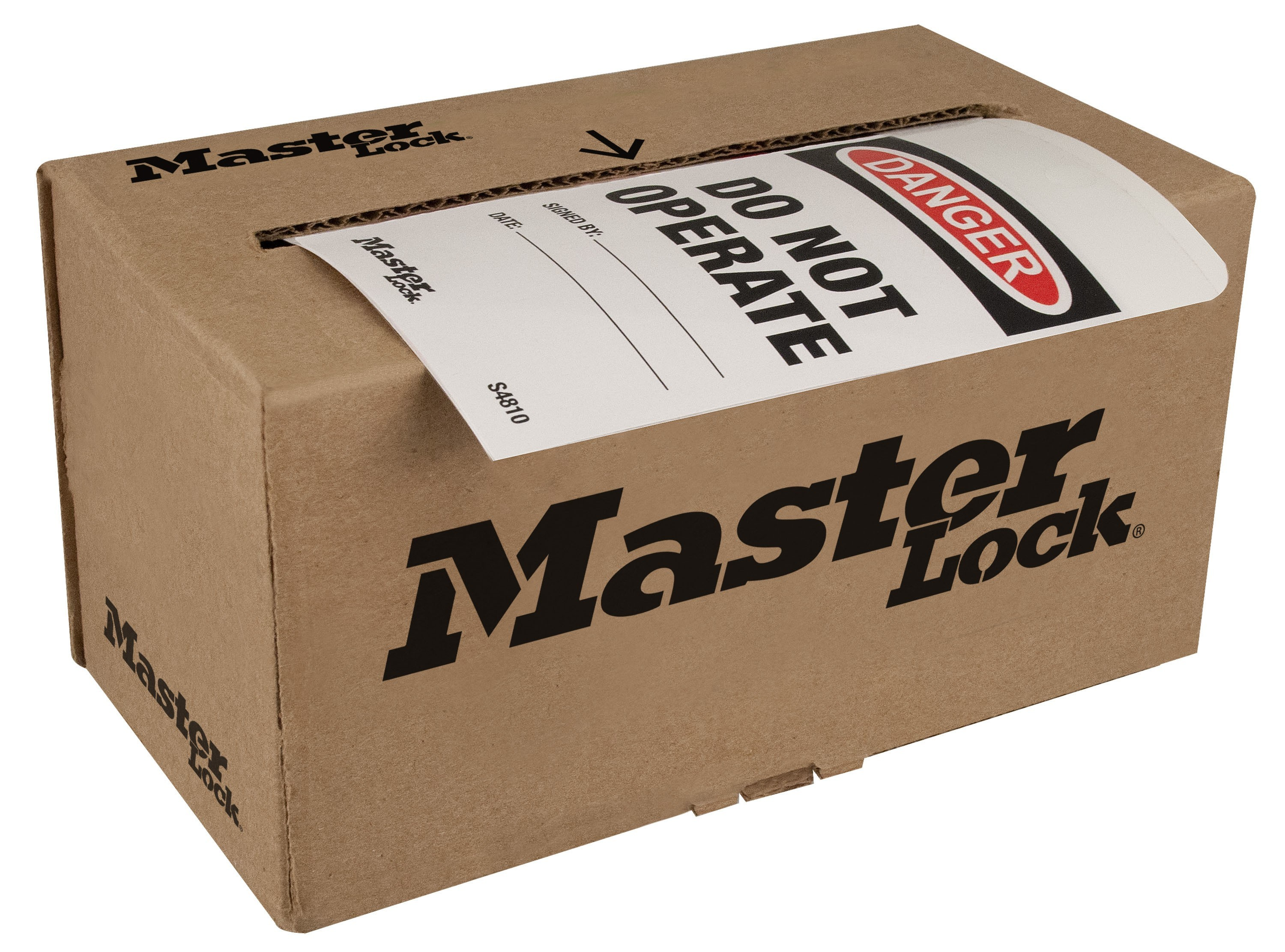 Master Lock Box Of 100 Rolled Tags Lockout Safety Com